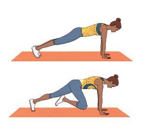 É possível ter uma barriga lisa sem que tenha de ir ao ginásio. Pratique este exercício em casa: Mountain climber