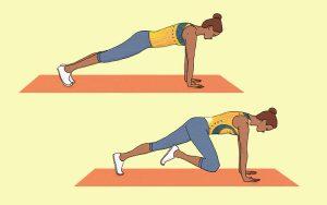 Série de 4 exercícios para ter uma barriga lisa sem ter de fazer abdominais