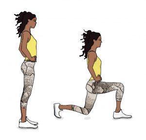 Exercícios que lhe permitem eliminar a celulite: Lunges