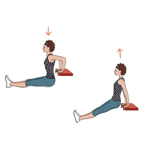 exercícios para fortalecer o músculo do adeus: Fundos para tricípite