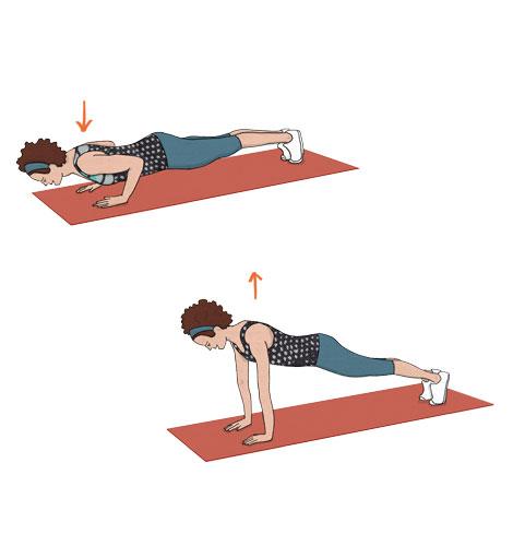 exercícios para fortalecer o músculo do adeus: Flexões