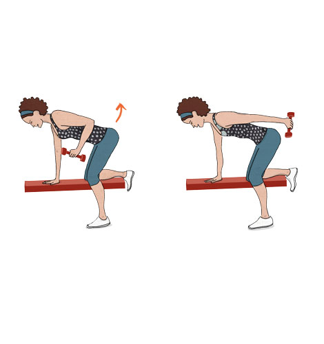 exercícios para fortalecer o músculo do adeus: Tricípite kickback