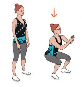 Agachamento - Exercício para adelgaçar as ancas