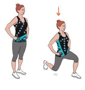 Lunges - Exercício para adelgaçar as ancas