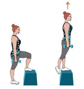 Step up - Exercício para adelgaçar as ancas