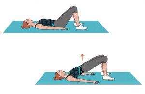 Ponte de glúteos- Exercício para adelgaçar as ancas