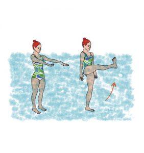 como treinar na praia: pontapés frontais