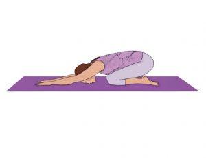 Exercícios para aliviar as dores nas costas: Posição de criança