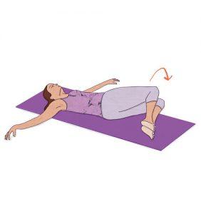 Exercícios para aliviar as dores nas costas: Rotação da cintura