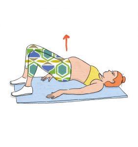 Exercícios para grávidas: Ponte de glúteos