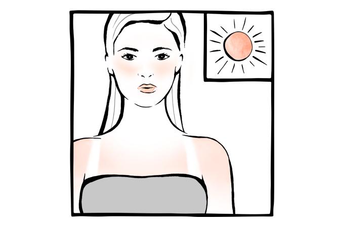 1. Vermelhidões devido à exposição solar