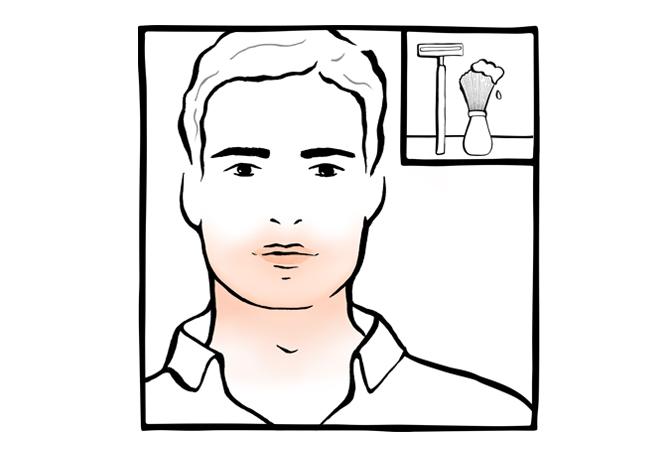 8. Irritação da pele após o barbear