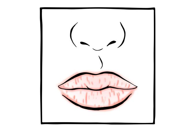 9. Lábios secos e gretados