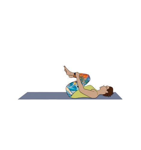Exexrcícios para dormir bem: Joelhos no peito