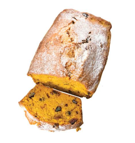Pão de abóbora e nozes